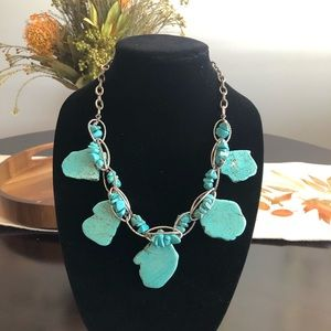 Chunky Turquoise and Silver Necklace